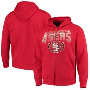 Wholesale Cheap San Francisco 49ers G-III Sports by Carl Banks Perfect Season Full-Zip Hoodie Scarlet