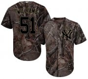 Wholesale Cheap Yankees #51 Bernie Williams Camo Realtree Collection Cool Base Stitched MLB Jersey