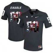 Wholesale Cheap Washington State Cougars 90 Daniel Ekuale Black Fashion College Football Jersey