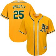 Wholesale Cheap Athletics #25 Stephen Piscotty Gold Cool Base Stitched Youth MLB Jersey