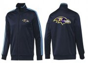 Wholesale NFL Baltimore Ravens Team Logo Jacket Dark Blue_2