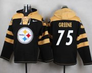 Wholesale Cheap Nike Steelers #75 Joe Greene Black Player Pullover NFL Hoodie