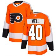Wholesale Cheap Adidas Flyers #40 Jordan Weal Orange Home Authentic Stitched NHL Jersey