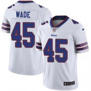 Wholesale Cheap Nike Bills #45 Christian Wade White Men's Stitched NFL Vapor Untouchable Limited Jersey