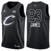 Wholesale Cheap Cavaliers 23 LeBron James Jordan Brand Black 2018 All-Star Game Swingman Jersey
