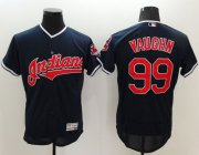 Wholesale Cheap Indians #99 Ricky Vaughn Navy Blue Flexbase Authentic Collection Stitched MLB Jersey