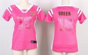 Wholesale Cheap Nike Bengals #18 A.J. Green Pink Women's Stitched NFL Elite Draft Him Shimmer Jersey