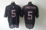 Wholesale Cheap Sideline Black United Buccaneers #5 Josh Freeman Black Stitched NFL Jersey