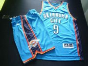 Wholesale Cheap Oklahoma City Thunder 9 IBAKA White Basketball Suit