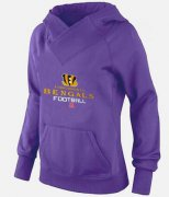 Wholesale Cheap Women's Cincinnati Bengals Big & Tall Critical Victory Pullover Hoodie Purple