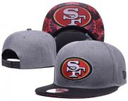 Wholesale Cheap NFL San Francisco 49ers Fresh Logo Adjustable Hat 11
