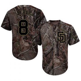 Wholesale Cheap Padres #8 Erick Aybar Camo Realtree Collection Cool Base Stitched MLB Jersey