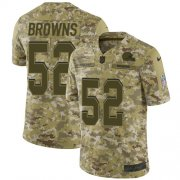 Wholesale Cheap Nike Browns #52 Preston Brown Camo Men's Stitched NFL Limited 2018 Salute To Service Jersey