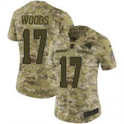 Wholesale Cheap Nike Rams #17 Robert Woods Camo Women's Stitched NFL Limited 2018 Salute to Service Jersey