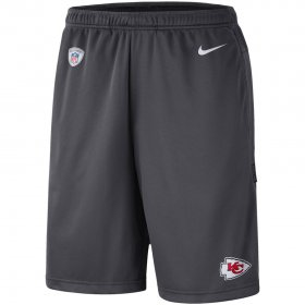 Wholesale Cheap Kansas City Chiefs Nike Sideline Coaches Shorts Charcoal