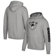 Wholesale Cheap Las Vegas Raiders Mitchell & Ness Classic Team Pullover Hoodie Heathered Gray