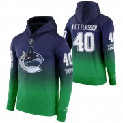 Wholesale Cheap Vancouver Canucks #40 Elias Pettersson Adidas Reverse Retro Pullover Hoodie Green