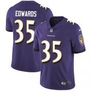 Wholesale Cheap Nike Ravens #35 Gus Edwards Purple Team Color Youth Stitched NFL Vapor Untouchable Limited Jersey
