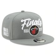 Wholesale Cheap Heat Team Logo 2020 NBA Finals Gray Adjustable Hat SG