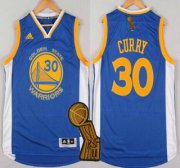 Wholesale Cheap Golden State Warriors #30 Stephen Curry Revolution 30 Swingman 2014 New Blue Jersey With 2015 Finals Champions Patch
