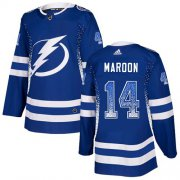 Cheap Adidas Lightning #14 Pat Maroon Blue Home Authentic Drift Fashion Stitched NHL Jersey