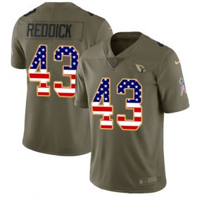 Wholesale Cheap Nike Cardinals #43 Haason Reddick Olive/USA Flag Men\'s Stitched NFL Limited 2017 Salute to Service Jersey