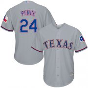 Wholesale Cheap Rangers #24 Hunter Pence Grey Cool Base Stitched Youth MLB Jersey