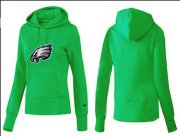 Wholesale Cheap Women's Philadelphia Eagles Logo Pullover Hoodie Green