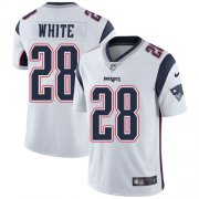 Wholesale Cheap Nike Patriots #28 James White White Men's Stitched NFL Vapor Untouchable Limited Jersey