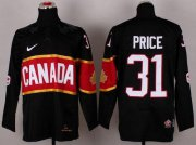 Wholesale Cheap Olympic 2014 CA. #31 Carey Price Black Stitched NHL Jersey