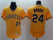 Wholesale Cheap Pirates #24 Barry Bonds Gold Flexbase Authentic Collection Cooperstown Stitched MLB Jersey