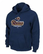 Wholesale Cheap Los Angeles Rams Critical Victory Pullover Hoodie Dark Blue