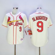 Wholesale Cheap Cardinals #9 Enos Slaughter Cream Cool Base Stitched MLB Jersey