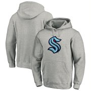 Wholesale Cheap Seattle Kraken Primary Logo Pullover Hoodie Heather Gray