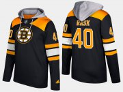 Wholesale Cheap Bruins #40 Tuukka Rask Black Name And Number Hoodie