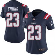 Wholesale Cheap Nike Patriots #23 Patrick Chung Navy Blue Women's Stitched NFL Limited Rush Jersey