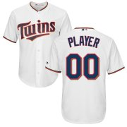 Wholesale Cheap Minnesota Twins Majestic Cool Base Custom Jersey White