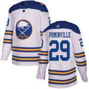 Wholesale Cheap Adidas Sabres #29 Jason Pominville White Authentic 2018 Winter Classic Youth Stitched NHL Jersey