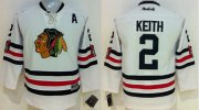 Wholesale Cheap Blackhawks #2 Duncan Keith White 2015 Winter Classic Stitched Youth NHL Jersey