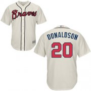 Wholesale Cheap Braves #20 Josh Donaldson Cream Cool Base Stitched Youth MLB Jersey