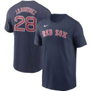 Wholesale Cheap Boston Red Sox #28 J.D. Martinez Nike Name & Number T-Shirt Navy