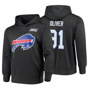 Wholesale Cheap Buffalo Bills #91 Ed Oliver Nike NFL 100 Primary Logo Circuit Name & Number Pullover Hoodie Charcoal