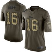 Wholesale Cheap Nike Rams #16 Jared Goff Green Men's Stitched NFL Limited 2015 Salute to Service Jersey