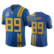 Wholesale Cheap Jacksonville Jaguars #89 Josh Oliver Royal Vapor Limited City Edition NFL Jersey