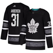Wholesale Cheap Adidas Maple Leafs #31 Frederik Andersen Black 2019 All-Star Game Parley Authentic Stitched NHL Jersey