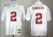 Wholesale Cheap Florida State Seminoles #2 Deion Sanders White Jersey