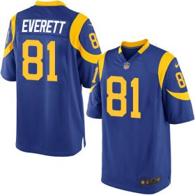 Wholesale Cheap Nike Rams #81 Gerald Everett Royal Blue Alternate Youth Stitched NFL Elite Jersey