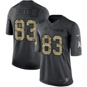 Wholesale Cheap Nike Bills #83 Andre Reed Black Men's Stitched NFL Limited 2016 Salute To Service Jersey