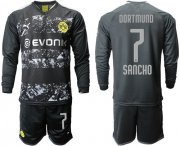 Wholesale Cheap Dortmund #7 Sancho Away Long Sleeves Soccer Club Jersey