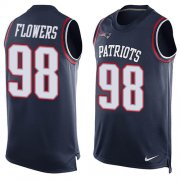 Wholesale Cheap Nike Patriots #98 Trey Flowers Navy Blue Team Color Men's Stitched NFL Limited Tank Top Jersey